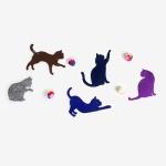[인디고샵] 호기심 많은 고양이 가랜드 set