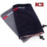 K2 넥워머 / 머플러 목도리 보온의류 스키장-블랙