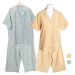 [쿠비카]미니 사각체크 5부 투피스 커플잠옷 WM344