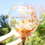 DIY 버블 커스텀 플라워벌룬(작약) 오렌지