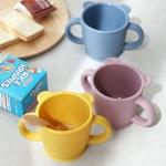 [DDUDDU] 파스텔 실리콘 어린이 양손손잡이 컵