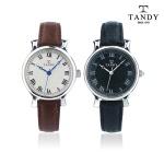 탠디 TANDY 스탬프 소가죽 밴드 손목시계