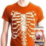 DEVAR 인체교육용 AR 티셔츠 Virtuali-Tee 버추얼리티