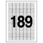 분류표기용 라벨(LQ 3189 20매 189칸 폼텍)