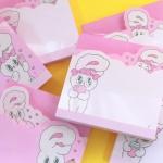 에스더버니 핑크메모패드(4가지디자인1세트)