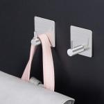 호텔식 벽부착 스텐 후크 접착식 욕실걸이 다용도수납