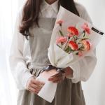 9송이 비누꽃 카네이션 꽃다발