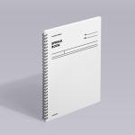 [모트모트] 스프링북 - 화이트 (코넬시스템) 1EA
