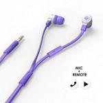 에어로폰 마이크/리모트기능 플랫케이블 이어폰 - MQGT26[퍼플]
