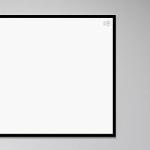 [강경숙칠판]프리미엄 자석 화이트보드 (블랙) 120x80
