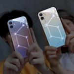 아이폰11 PRO MAX 별 LED 발광 강화유리 하드 케이스