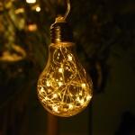 LED 20P 와이어 건전지(밧데리) 에디슨전구(1구) - 웜