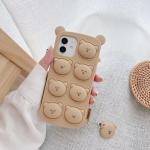 아이폰12 11 pro max xs 8 곰돌이 푸쉬팝 팝잇 케이스
