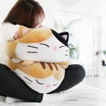 모찌모찌 까망 고양이쿠션 M