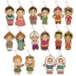 세계전통다문화의상가방걸이(16종 택1)