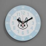 (kdrz138)저소음 교육용시계(도트 토끼)