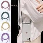 갤럭시S21+/핸드폰 목걸이줄 스트랩 투명 젤리 케이스