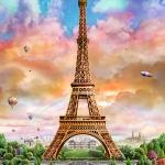 500조각 직소퍼즐▶ 에펠탑 풍경 (CA5121A)
