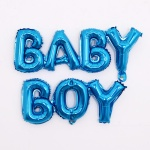 은박풍선세트 BABY BOY 블루