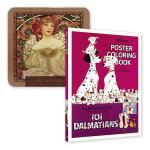 디즈니 포스터 컬러링북+아르누보 72색틴케이스색연필