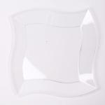 칼라 파티접시 웨이브 23cm -투명(6입)
