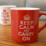 Keep Calm 머그 - 레드