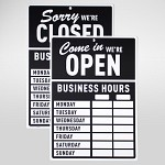 Open Closed 비즈니스아워 사인보드
