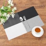모노테이블 양면 식탁매트 사각 플레이팅(블랙)