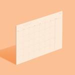 [모트모트] 플랜보드 먼슬리 - 샌드피치