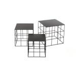 Reton Coffee Table Black 3size