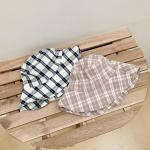 볼드 체크 와이어 벙거지 모자 2color