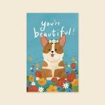 [사랑카드] HH3524_YOUR BEAUTIFUL 캘리그라피카드