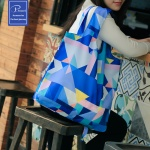 피트래블 패턴 쇼핑백 에코 숄더 가방