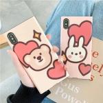 아이폰 곰돌이 토끼 캐릭터 소프트 휴대폰 케이스