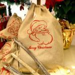 크리스마스 패브릭 선물자루 (대형 / 산타)