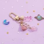 KEY RING- 하트 핑크 테슬