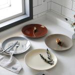 에크렌 골드 림(rim) 원형 접시 대 - 4color
