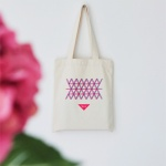 V+L special edition canvas eco bag - pink blue V+L 스페셜 에디션 캔버스 에코백 핑크