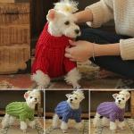 애견 꽈배기 손뜨개 스웨터