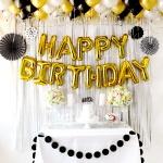 홈파티장식-생일파티 풍선세트(럭셔리블랙)