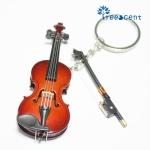 트리센트 바이올린 키링 열쇠고리 선물 키홀더 이니셜