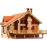 전원주택A YM633 영공방 프라모델 모형 조립키트 목재 나무모형 건축모형