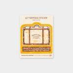 [Travel Tools Collection]LetterpressSticker옐로우