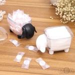 아가양 투명 면봉 케이스 화장솜 보관함 이쑤시개