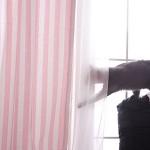 모던스트라이프 커튼  - 핑크 M(100cm*180cm)