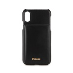 FENNEC LEATHER iPHONE XS POCKET CASE - BLACK