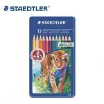 스테들러 12색 색연필/메탈케이스