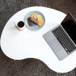 Simple 사이드테이블 우드화이트 peanut  80x60x30cm