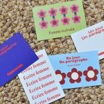 Ecrire Femme-Postcard set