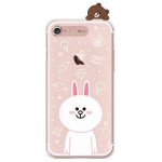 [SG DESIGN] iPHONE7 라인프렌즈 코니 LIGHT UP Case - ROSE GOLD(소프트/라이팅)